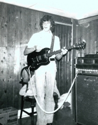 "Johnny ""Guitar"" Jones practicing with different band - Mark Carlile - Darren Cole - at Marks Place in 1975!"